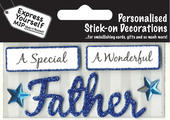 Blue Father DIY Greeting Card Toppers