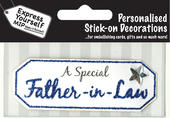 Blue Father-In-Law DIY Greeting Card Toppers
