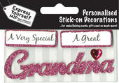 Pink Grandma DIY Greeting Card Toppers