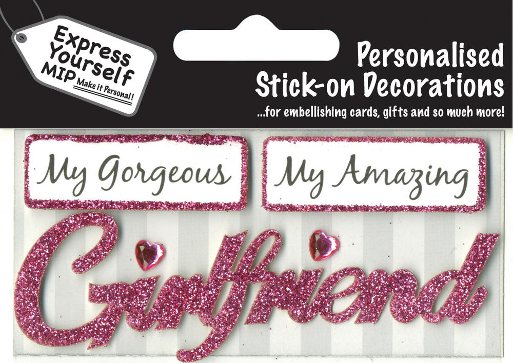 Pink Girlfriend DIY Greeting Card Toppers