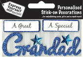 Blue Grandad DIY Greeting Card Toppers