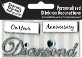 Diamond Anniversary DIY Greeting Card Toppers