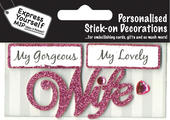 Pink Wife DIY Greeting Card Toppers