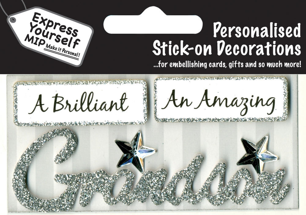 Siver Grandson DIY Greeting Card Toppers