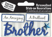 Blue Brother DIY Greeting Card Toppers