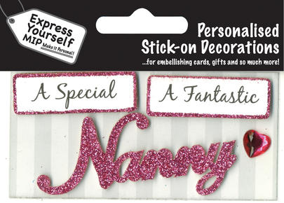 Pink Nanny DIY Greeting Card Toppers