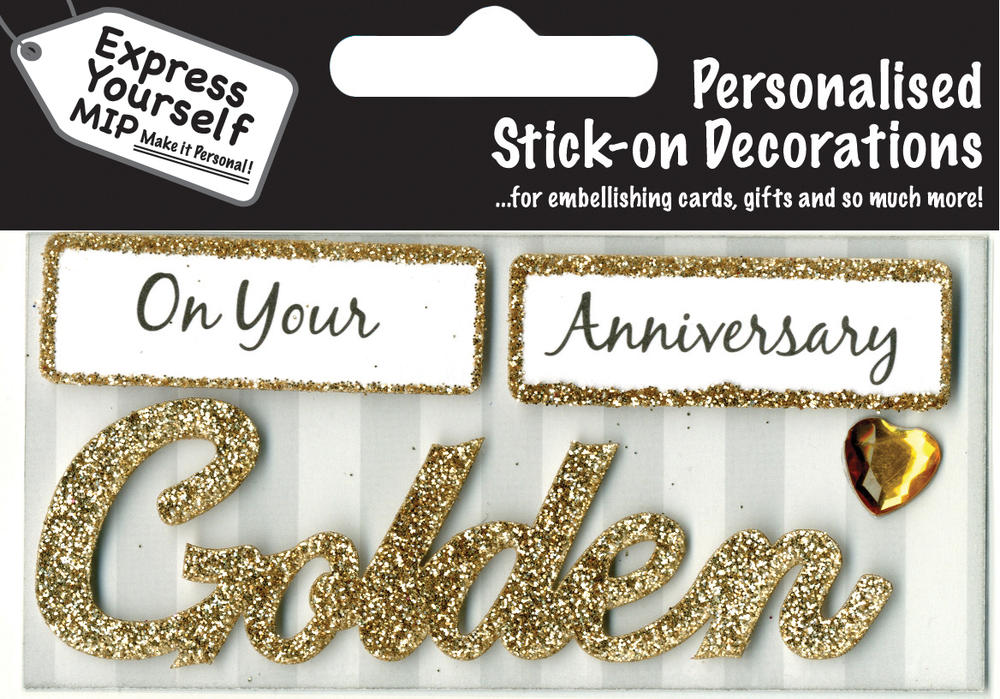 Golden Anniversary DIY Greeting Card Toppers
