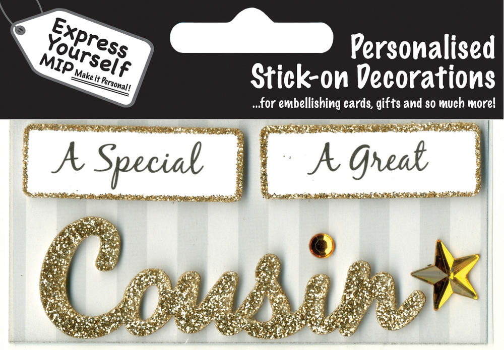Gold Cousin DIY Greeting Card Toppers