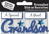 Blue Grandson DIY Greeting Card Toppers