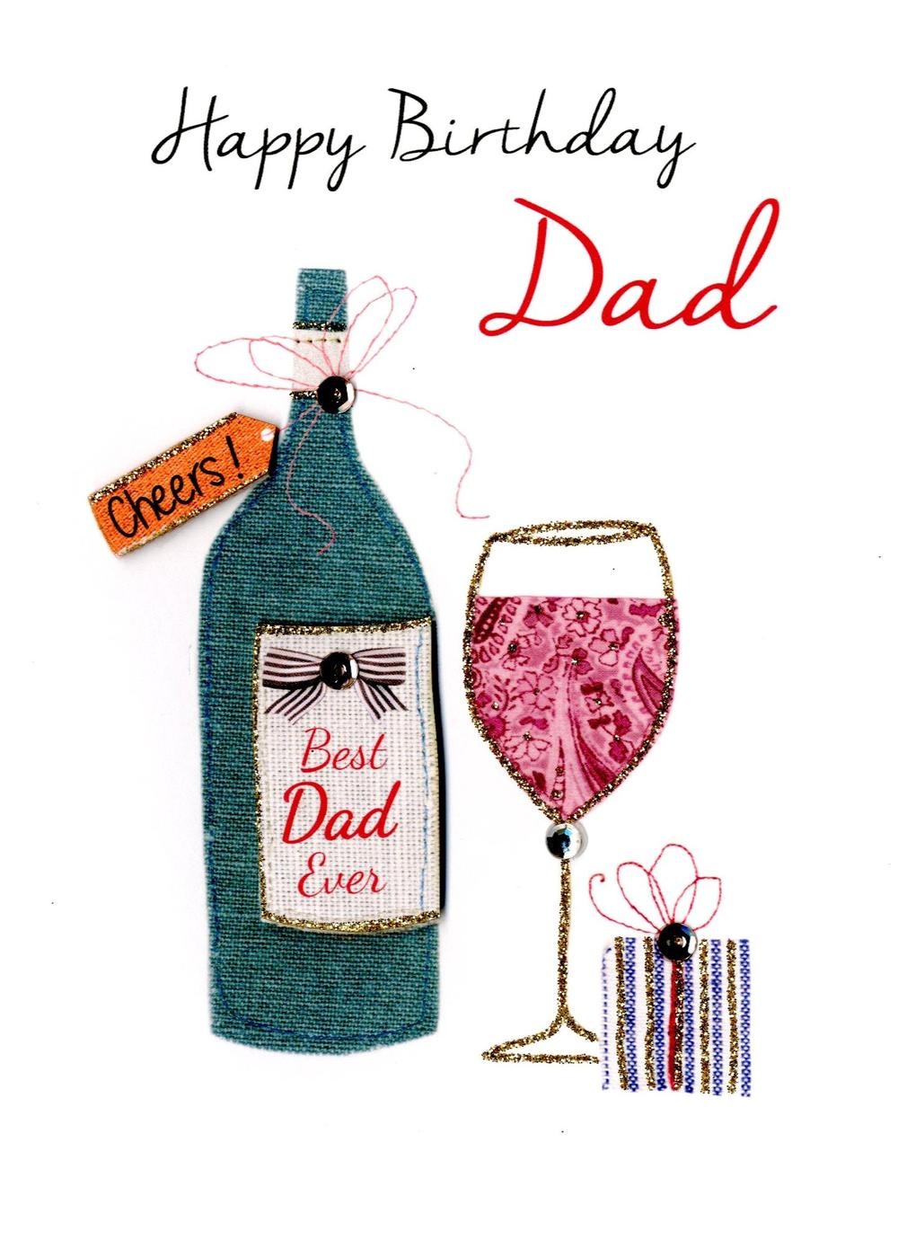 Best Dad Ever Happy Birthday Greeting Card