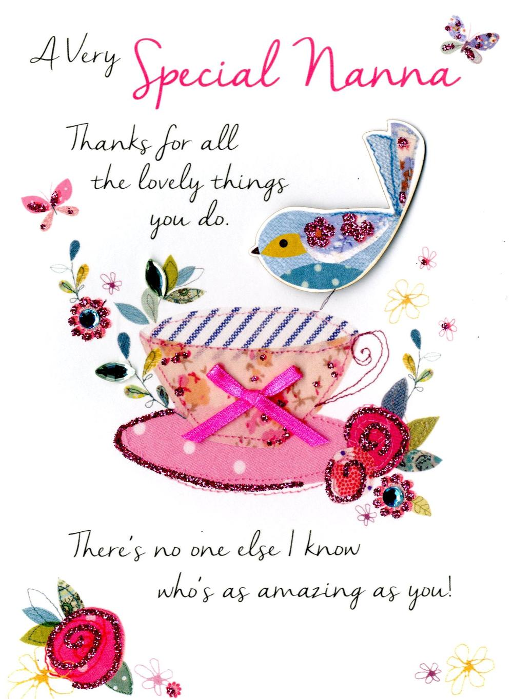 Special Nanna Birthday Greeting Card