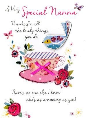 Special Nanna Birthday Greeting Card