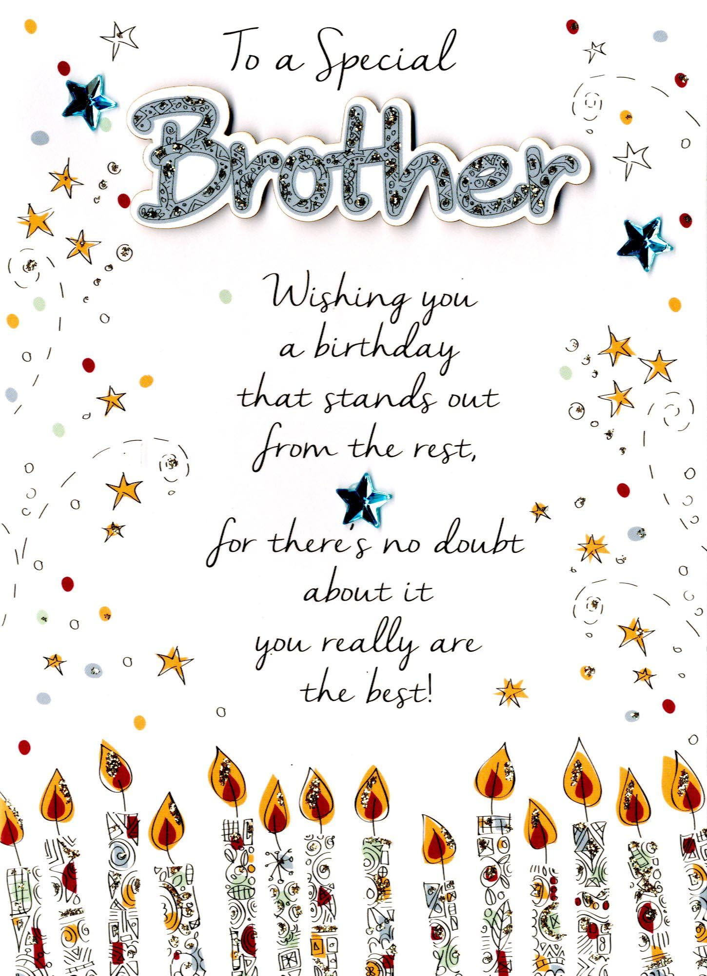 Special Brother Happy Birthday Greeting Card Cards Love Kates