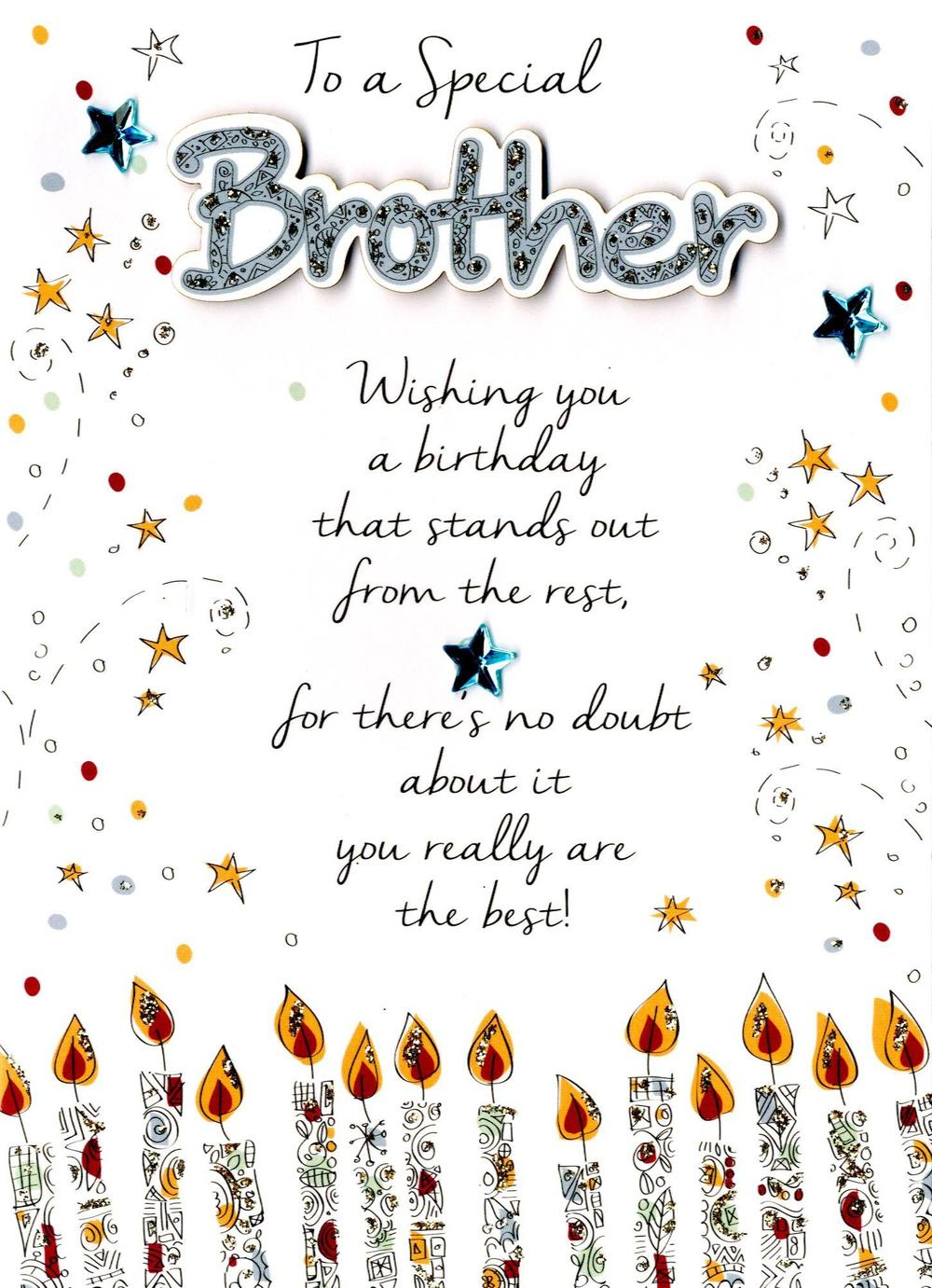 Special brother happy birthday greeting card cards love kates special brother happy birthday greeting card m4hsunfo