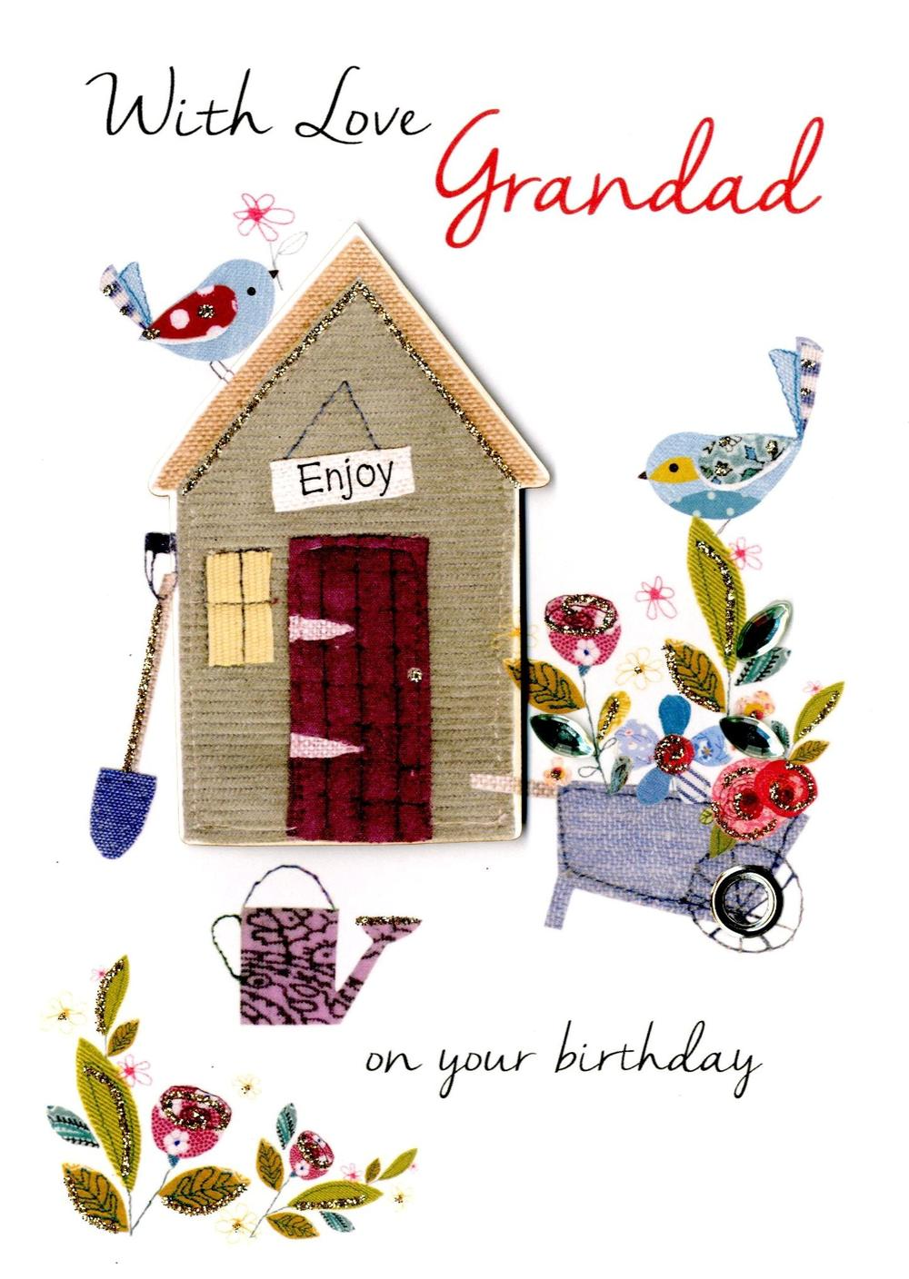 With Love Grandad Birthday Greeting Card