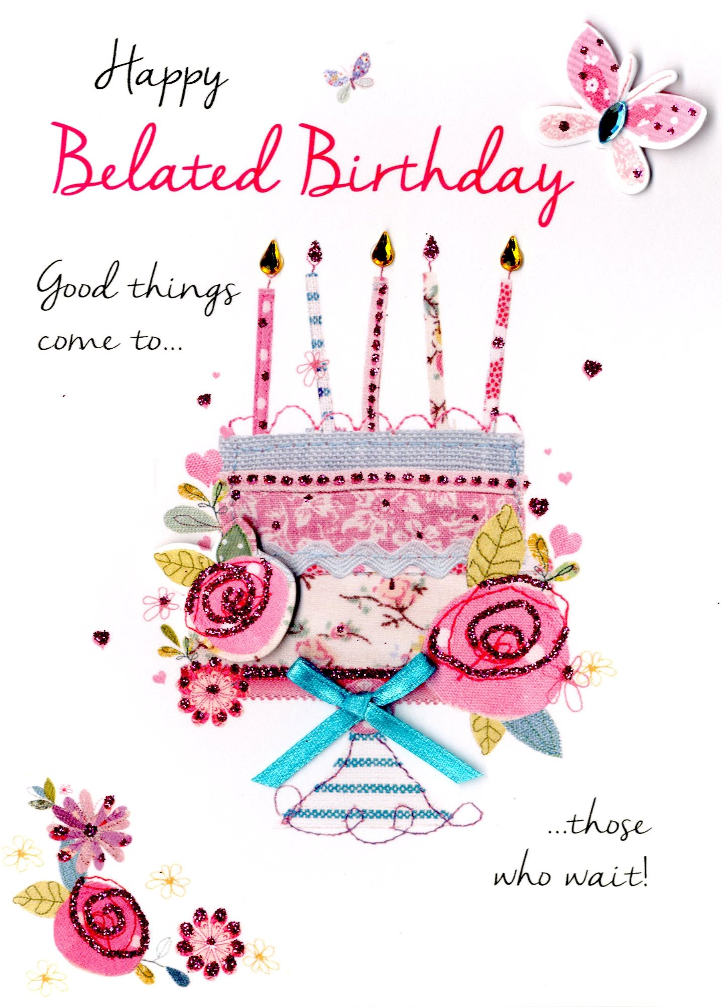 Happy Belated Birthday Greeting Card Cards – Belated Birthday Card