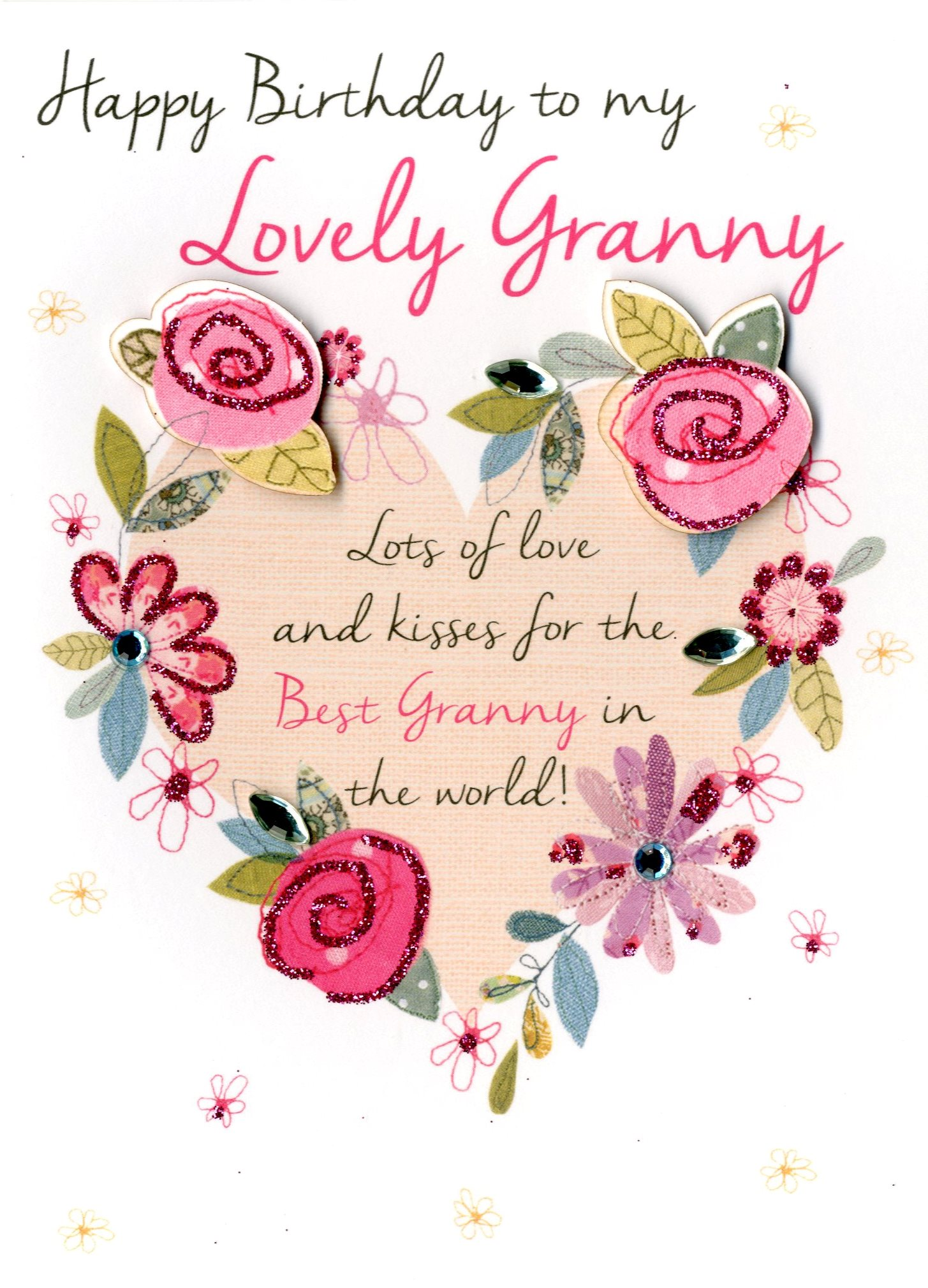 lovely granny happy birthday greeting card cards love