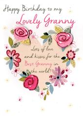 Lovely Granny Happy Birthday Greeting Card