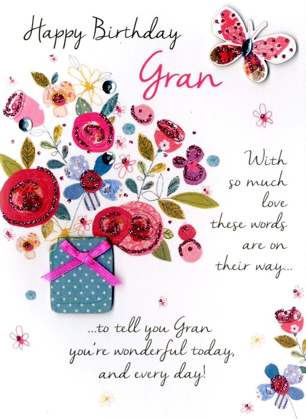 Happy Birthday Gran Greeting Card