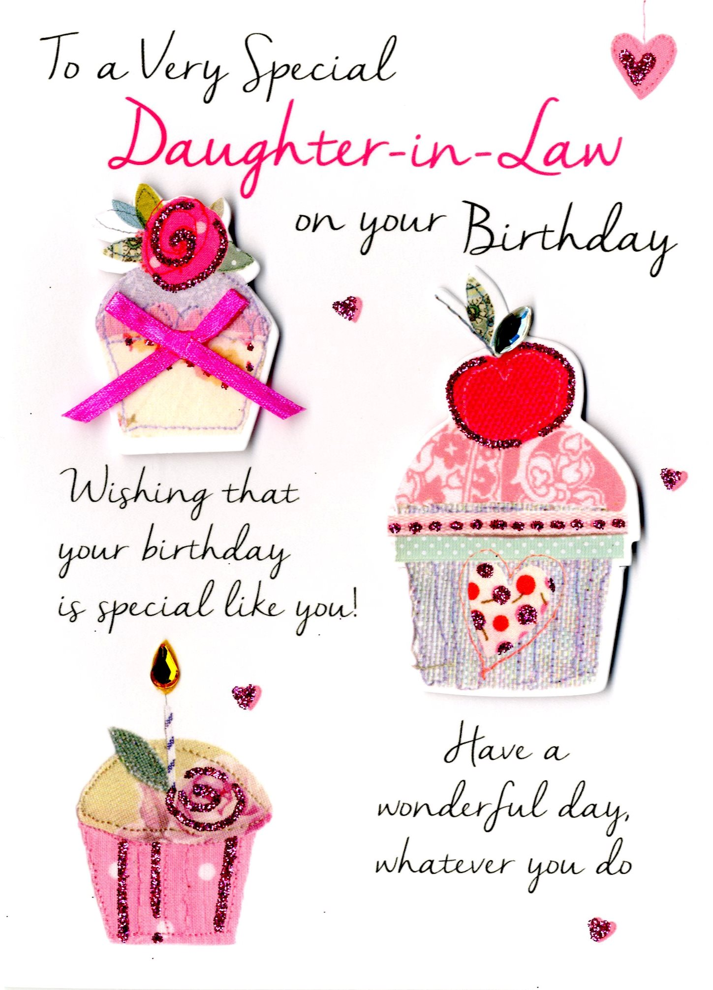 Special Daughter In Law Birthday Greeting Card