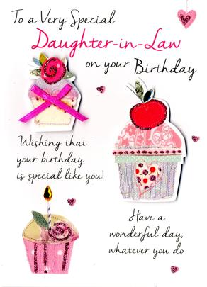 Special Daughter-In-Law Birthday Greeting Card