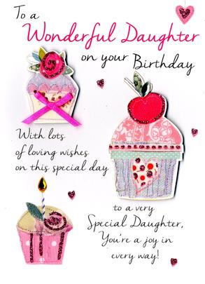Wonderful Daughter Birthday Greeting Card