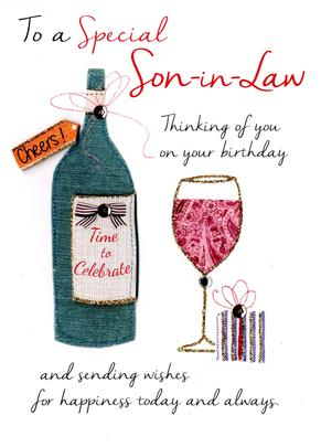 Special Son-In-Law Birthday Greeting Card
