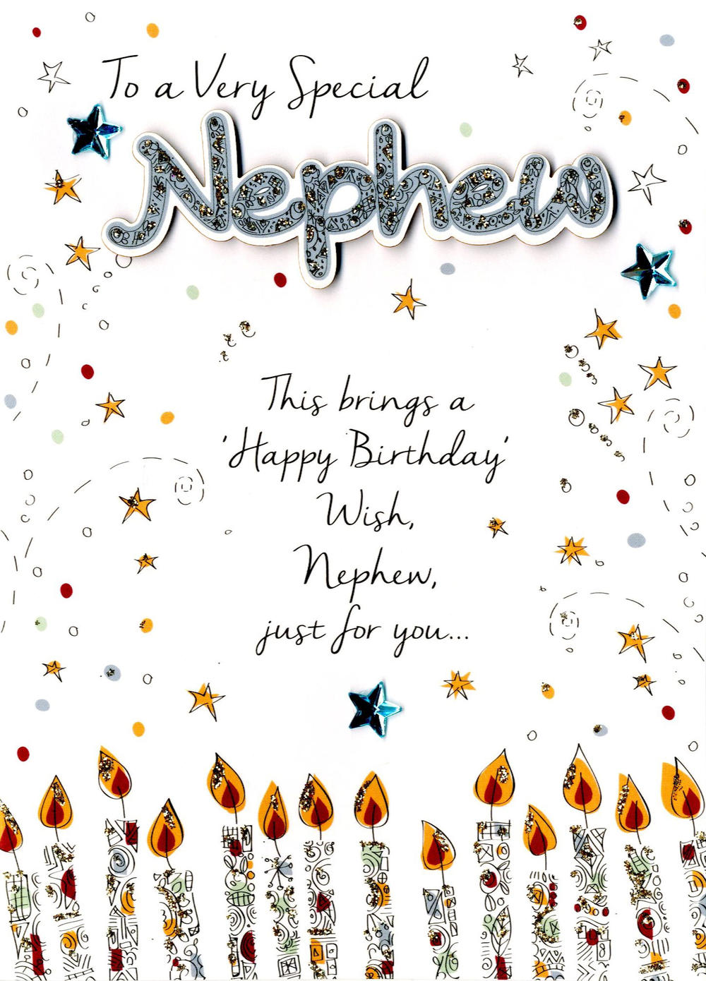 Special Nephew Birthday Greeting Card Cards – Birthday Cards for Nephew