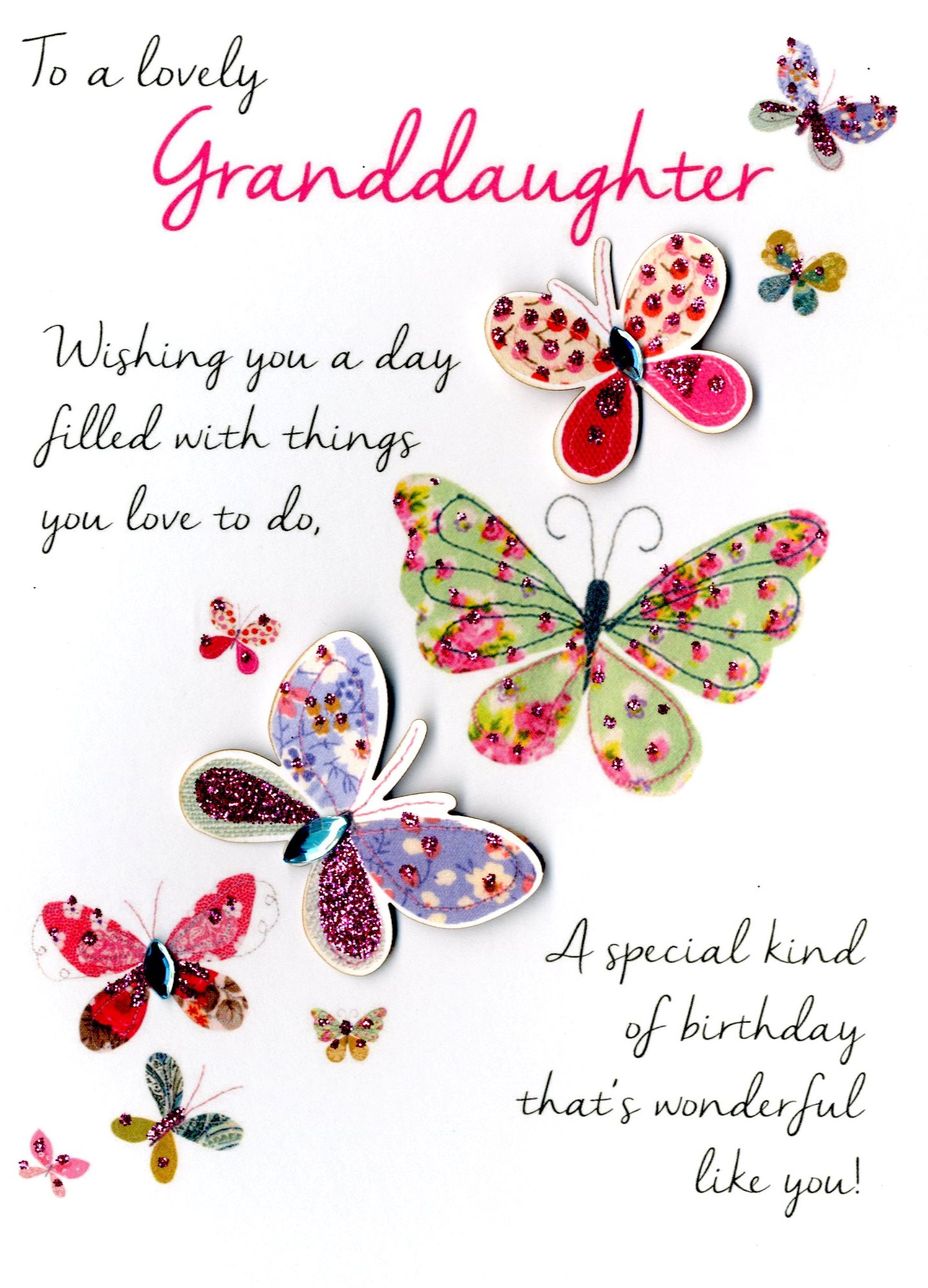 Details About Lovely Granddaughter Birthday Greeting Card Second Nature Just To Say Cards