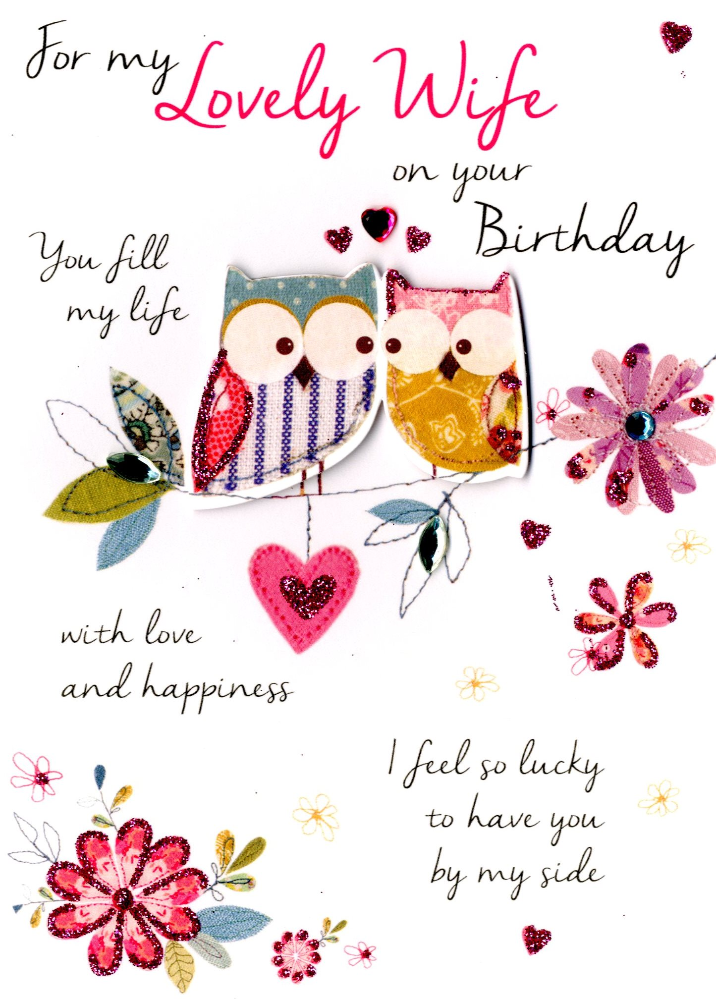 Lovely wife birthday greeting card cards love kates lovely wife birthday greeting card m4hsunfo