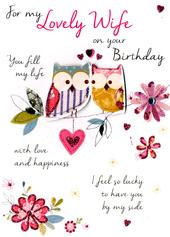 Lovely Wife Birthday Greeting Card