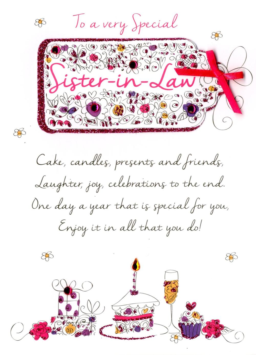 Special Sister-In-Law Birthday Greeting Card