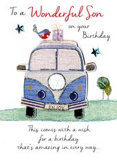 Wonderful Son Birthday Greeting Card