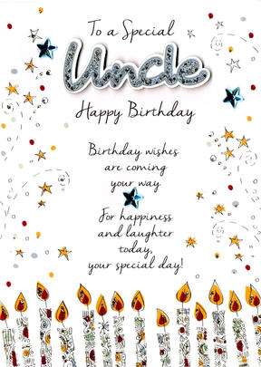 Special Uncle Birthday Greeting Card