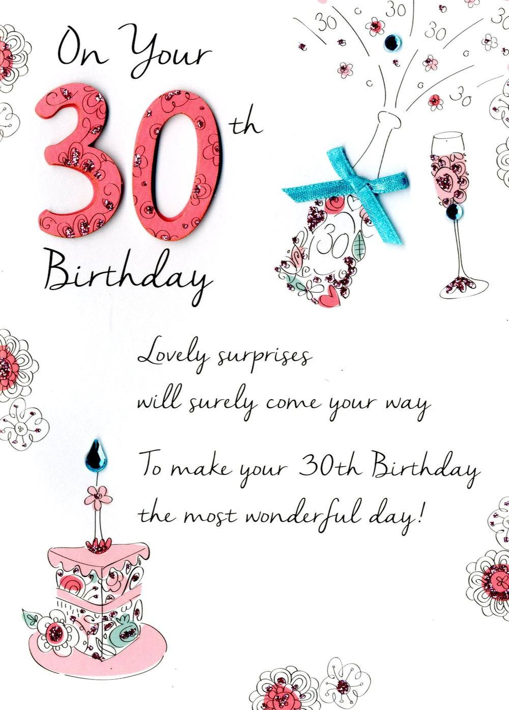 Female 30th Birthday Greeting Card