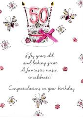 Female 50th Birthday Greeting Card