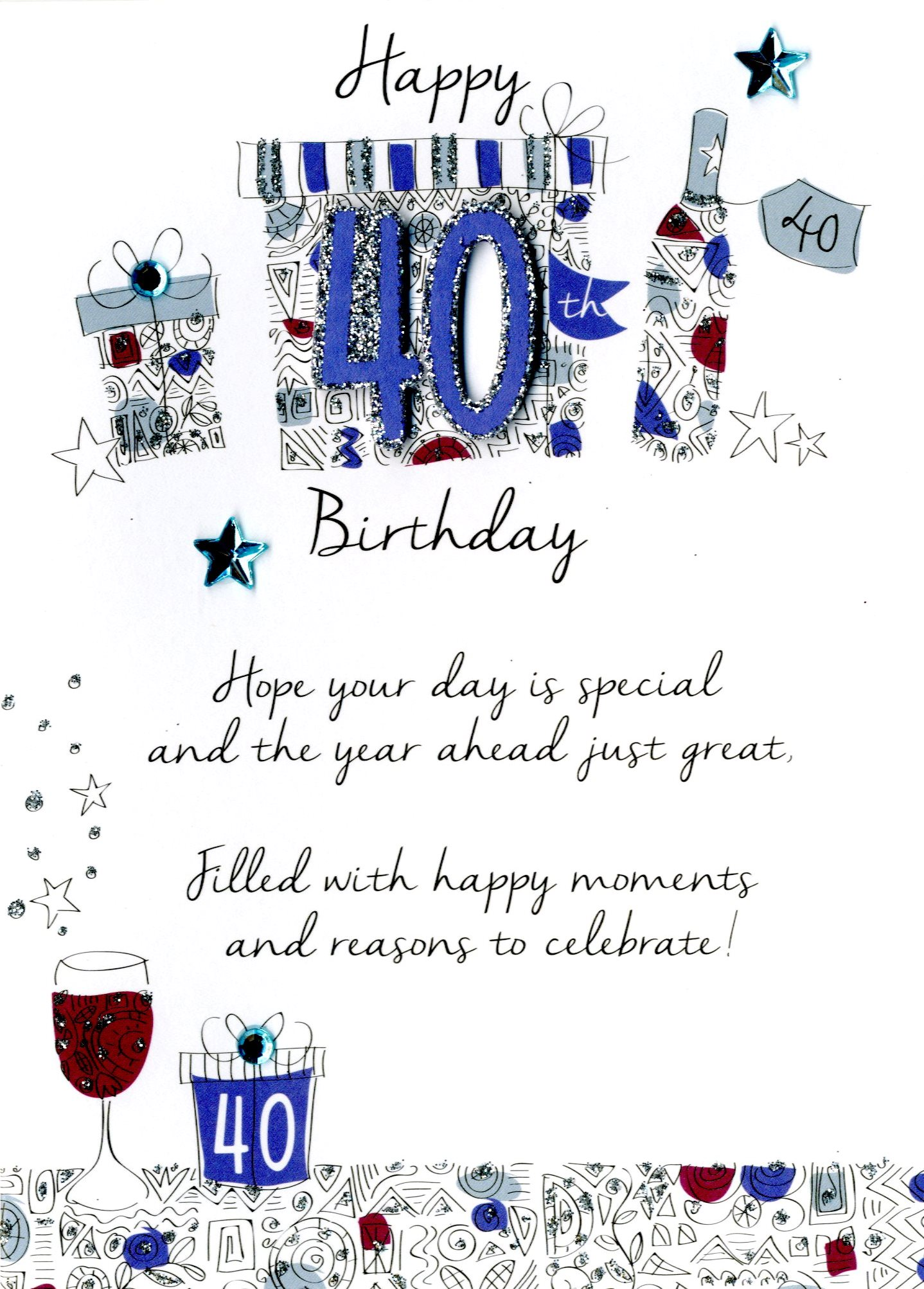 Male 40th Birthday Greeting Card