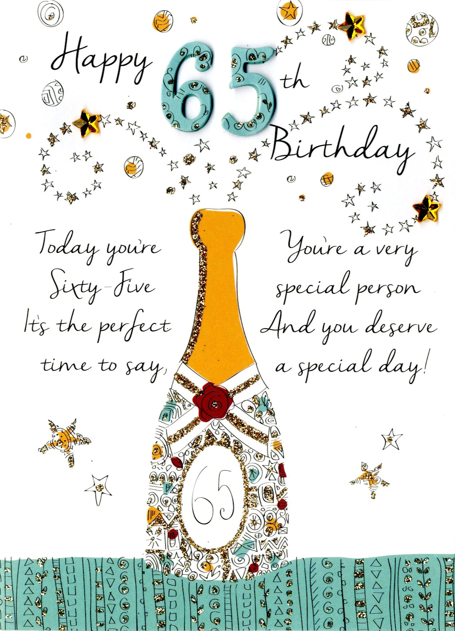 Happy 65th Birthday Greeting Card