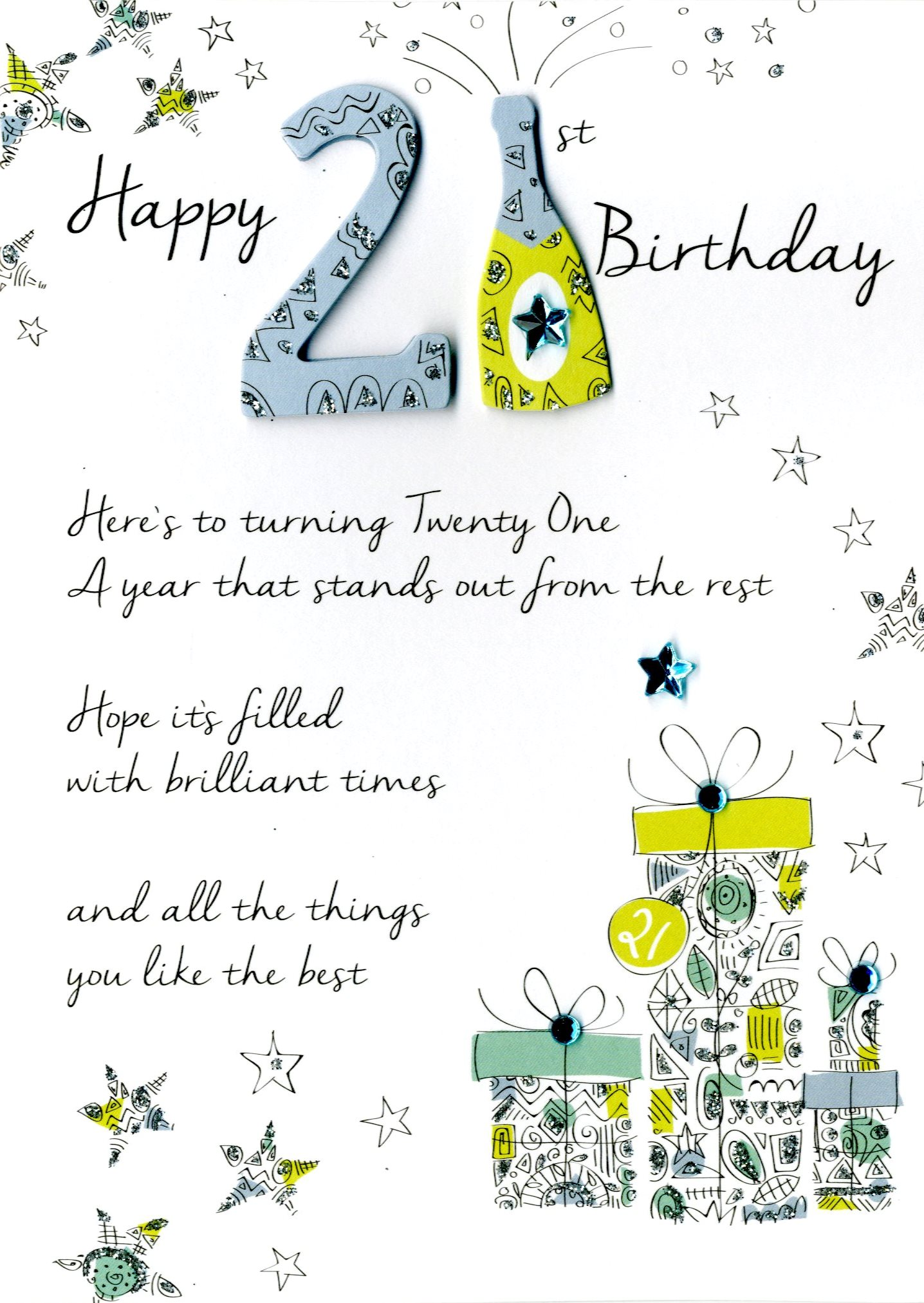 Happy 21st birthday greeting card second nature just to say cards sentinel happy 21st birthday greeting card second nature just to say cards bookmarktalkfo Image collections