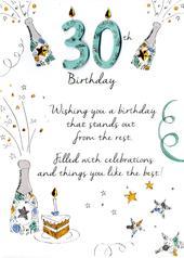 Male 30th Birthday Greeting Card