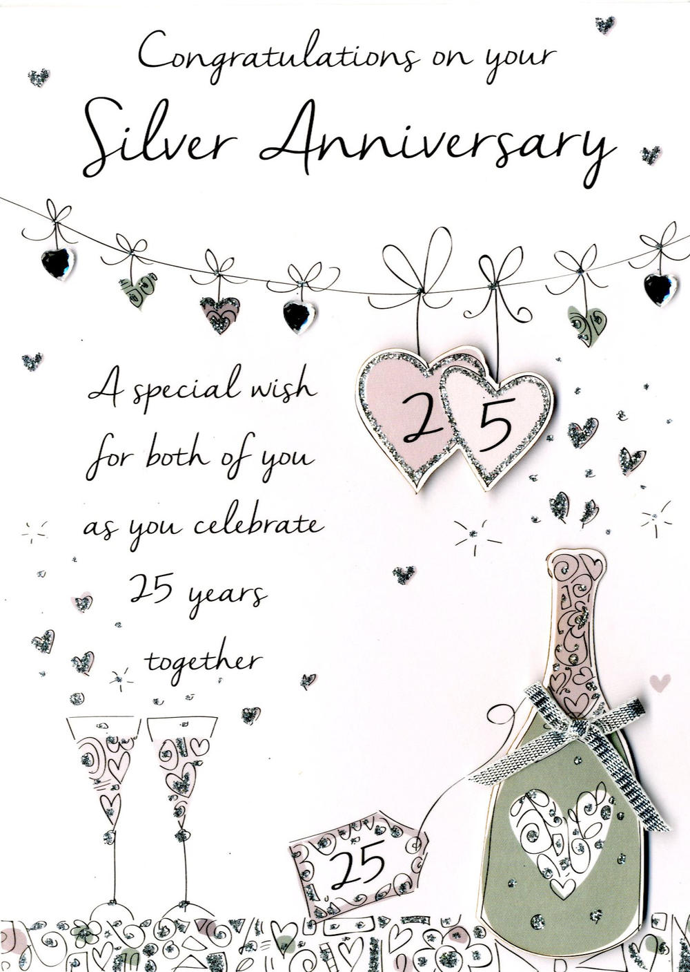 On Your Silver Anniversary Greeting Card