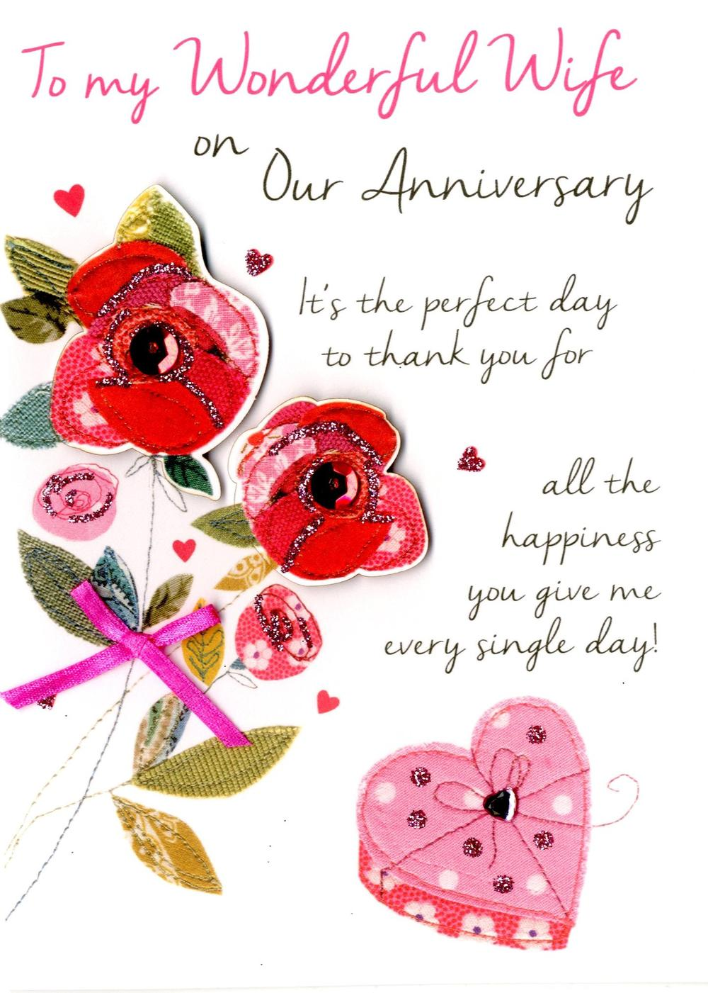 Wife On Our Anniversary Greeting Card