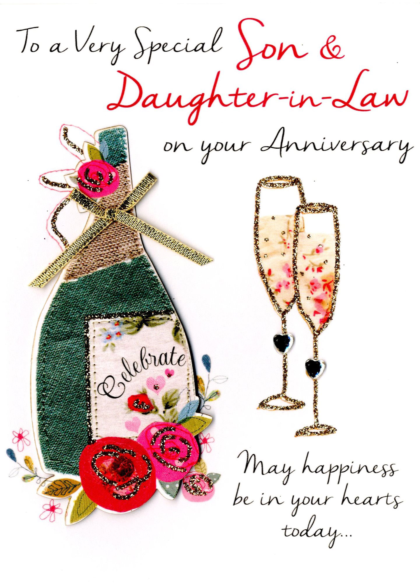 First Wedding Anniversary Gifts For Son And Daughter In Law: Son & Daughter-In-Law Anniversary Greeting Card