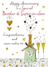 Brother & Sister-In-Law Anniversary Greeting Card