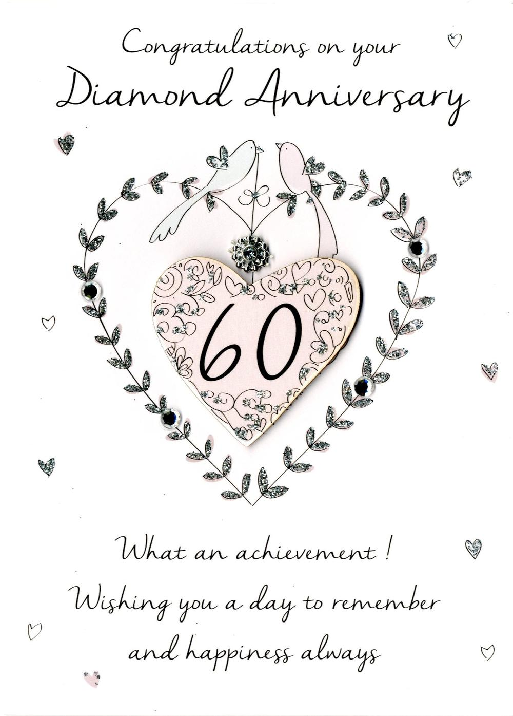 60th Diamond Anniversary Greeting Card