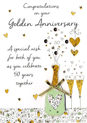50th Golden Anniversary Greeting Card