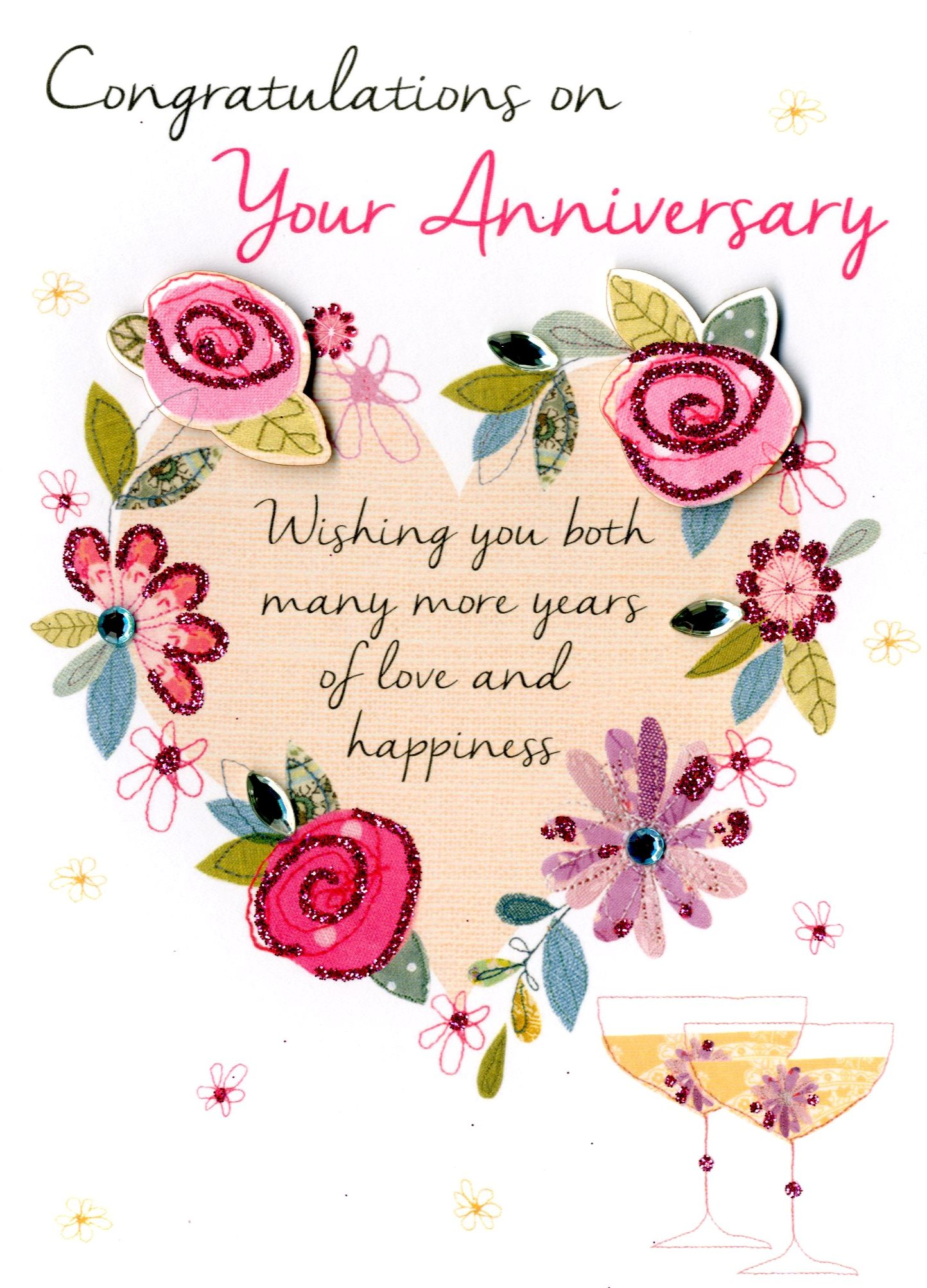 On Your Anniversary Greeting Card Second Nature Just To Say Cards