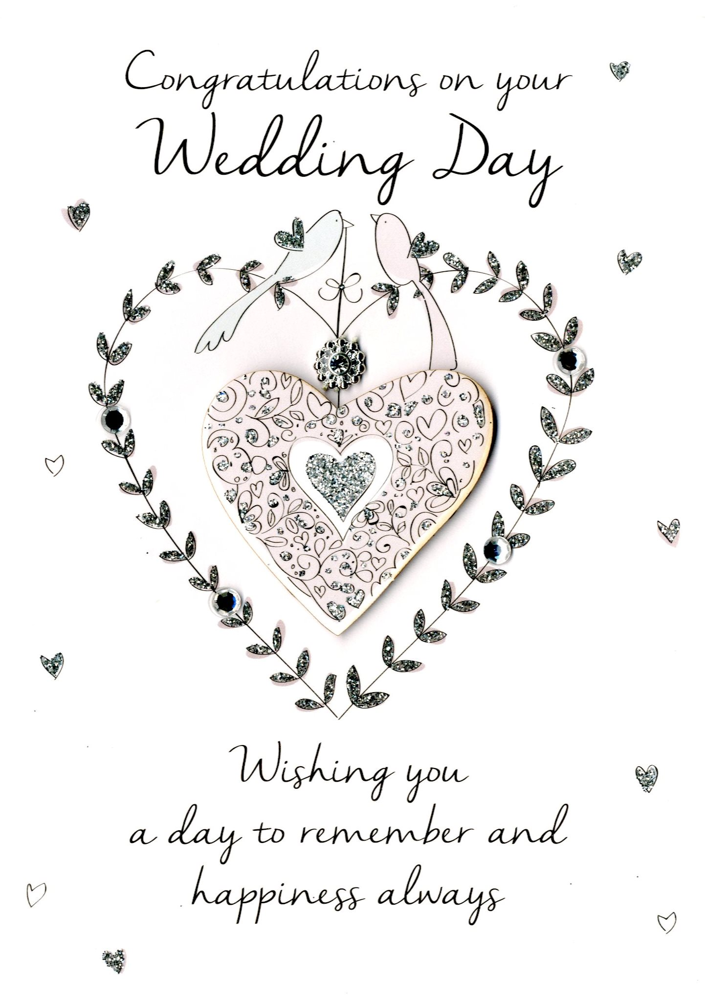 Congratulations On Your Wedding Day.On Your Wedding Day Greeting Card Cards