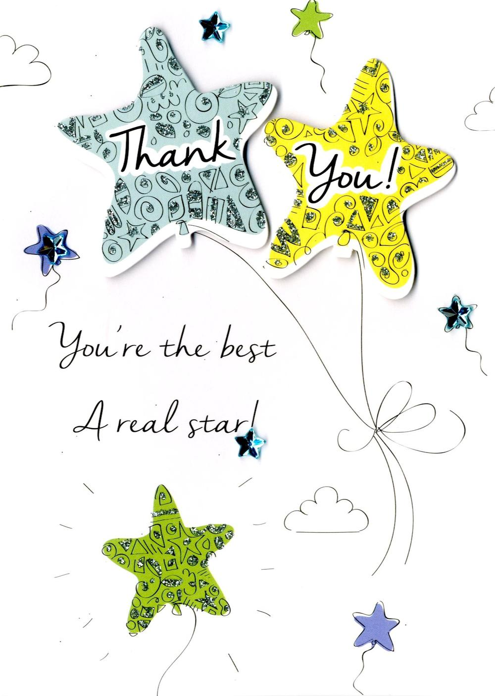 Thank You You're The Best Greeting Card