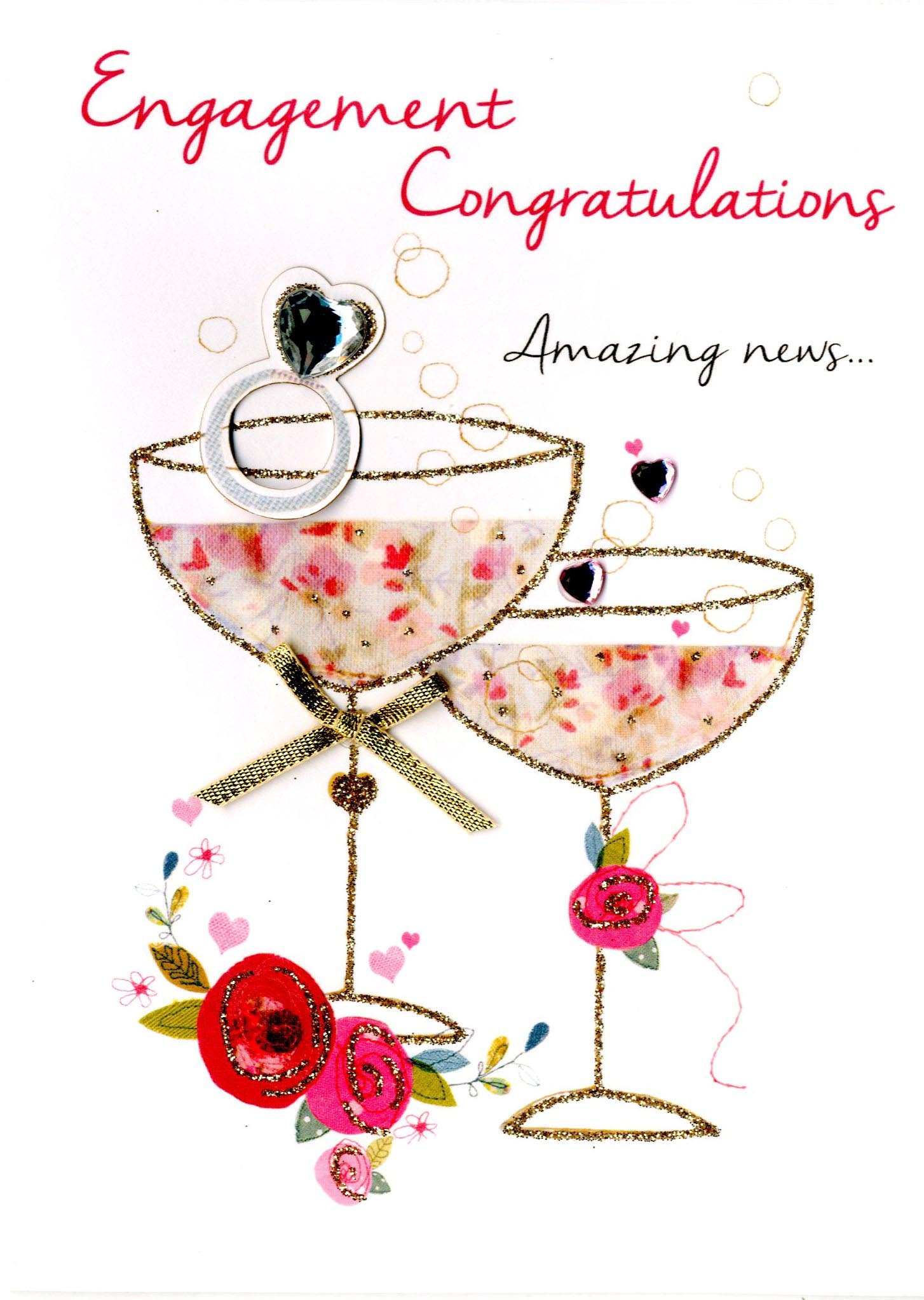 Engagement congratulations greeting card cards love kates engagement congratulations greeting card m4hsunfo